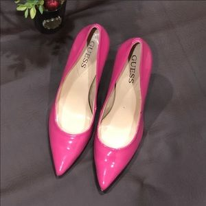 GUESS Hot Pink Pointed Toe Heel Pump
